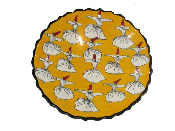 Turkish plate  iznik plate  handmade plate
