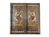 handmade wooden Persian Backgammon , khatam backgammon