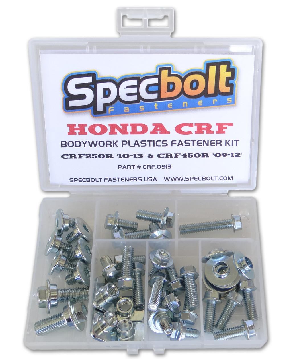 CRF250R Specbolt Full Plastics Fastener Kit Fits: Honda 2009-2012 2010-2013 /& CRF450R #0913