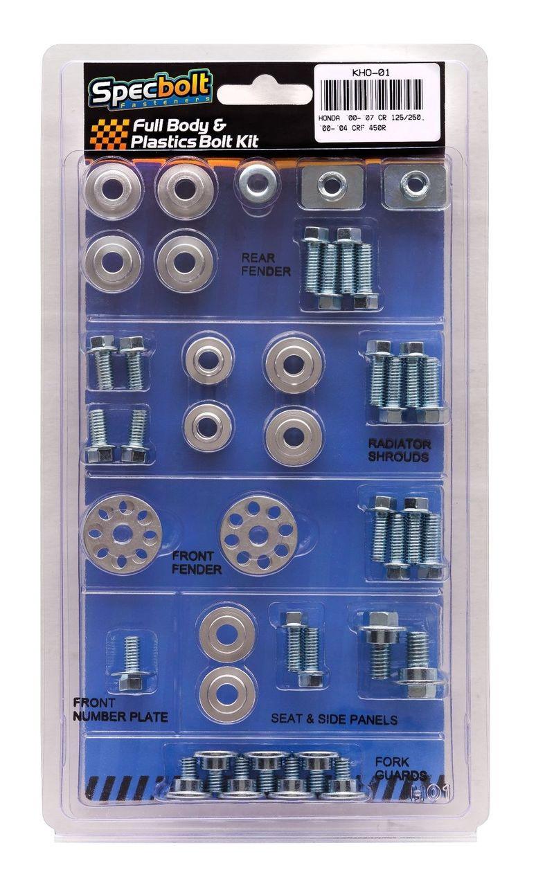 BOLT HONDA FULL PLASTIC FASTENER KIT CRF 450R 05-08