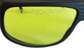 LG-001 Nd YAG 808 nm to 1064 nm Laser Safety Glasses Fitover OD 7+ LB7