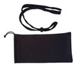 Strong adjustable head strap, Storage  pouch, cleaning cloth included