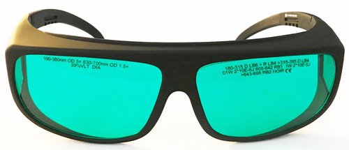 LG-006  630nm - 700nm OD 1.5 Red Laser Safety Glasses - Fitover