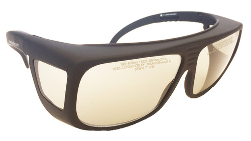 LG-228 1064 nm OD 7+ Yag Clear Laser Safety Glasses - Fitover