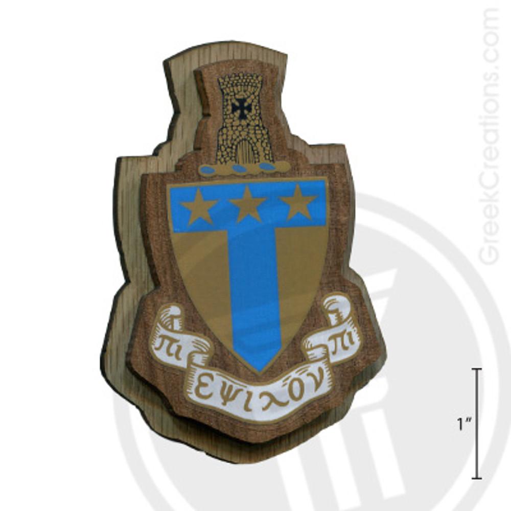 Alpha Tau Omega Large Raised Wooden Crest