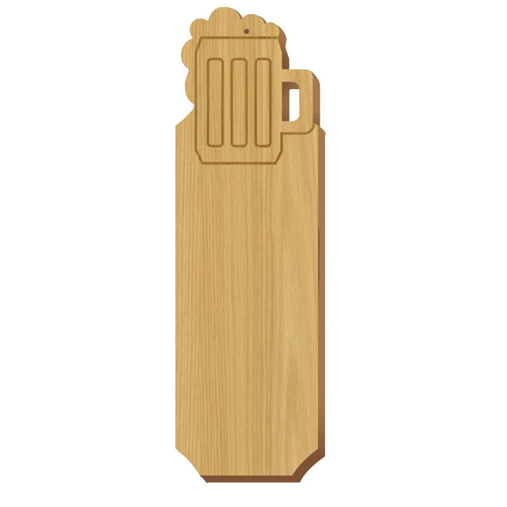 Blank Mug Symbol Oak Plaque