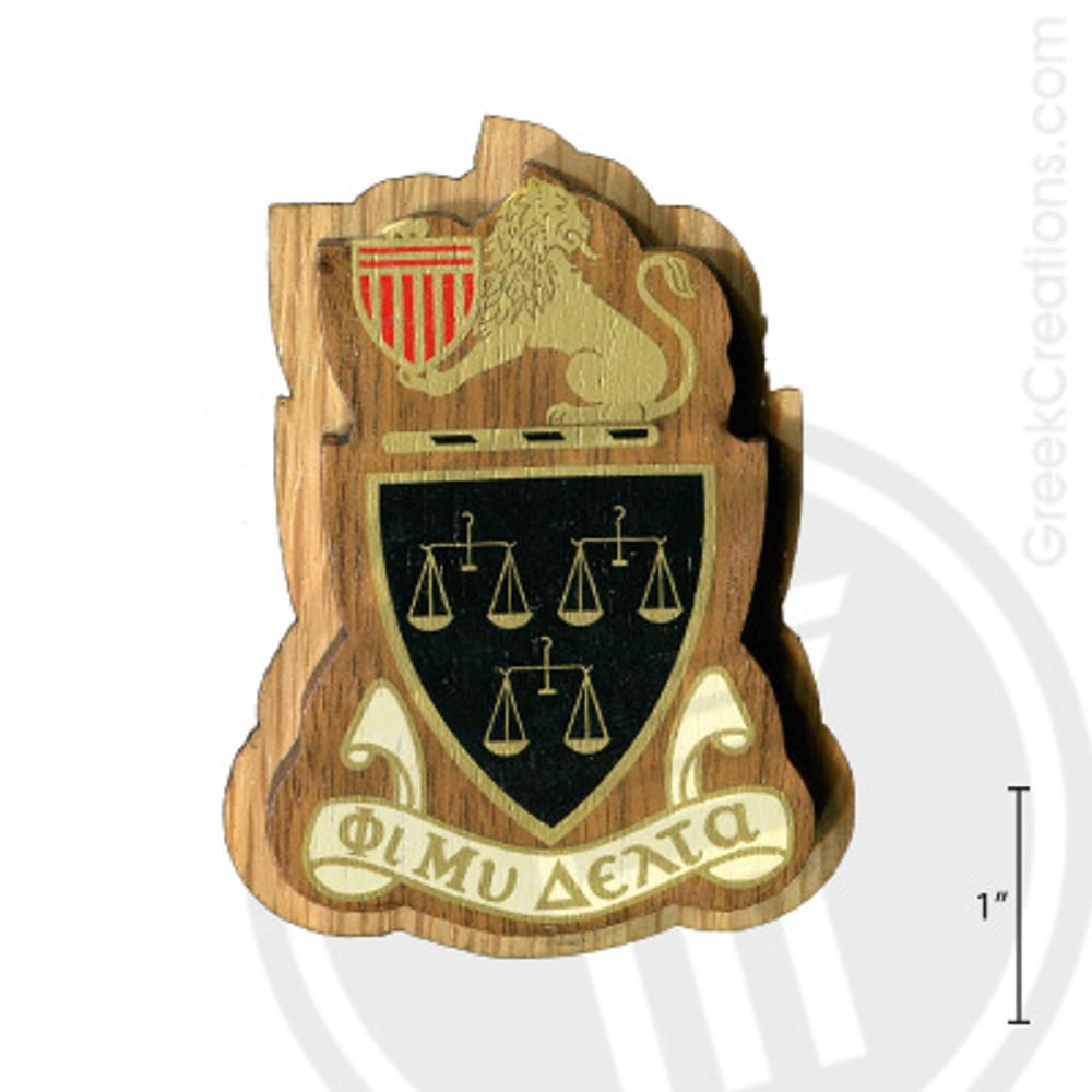 Phi Mu Delta Large Raised Wooden Crest