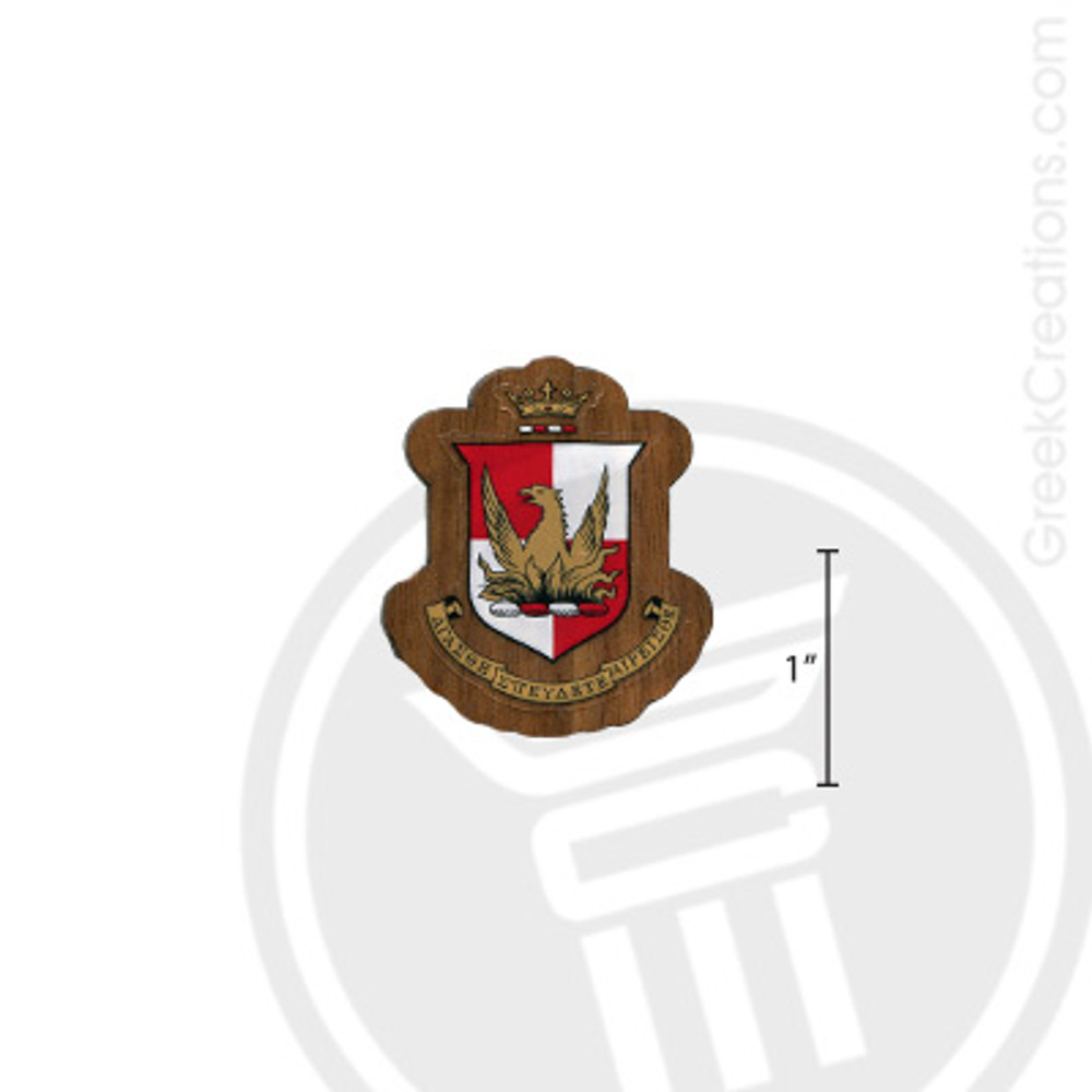 Alpha Sigma Alpha Small Raised Wooden Crest