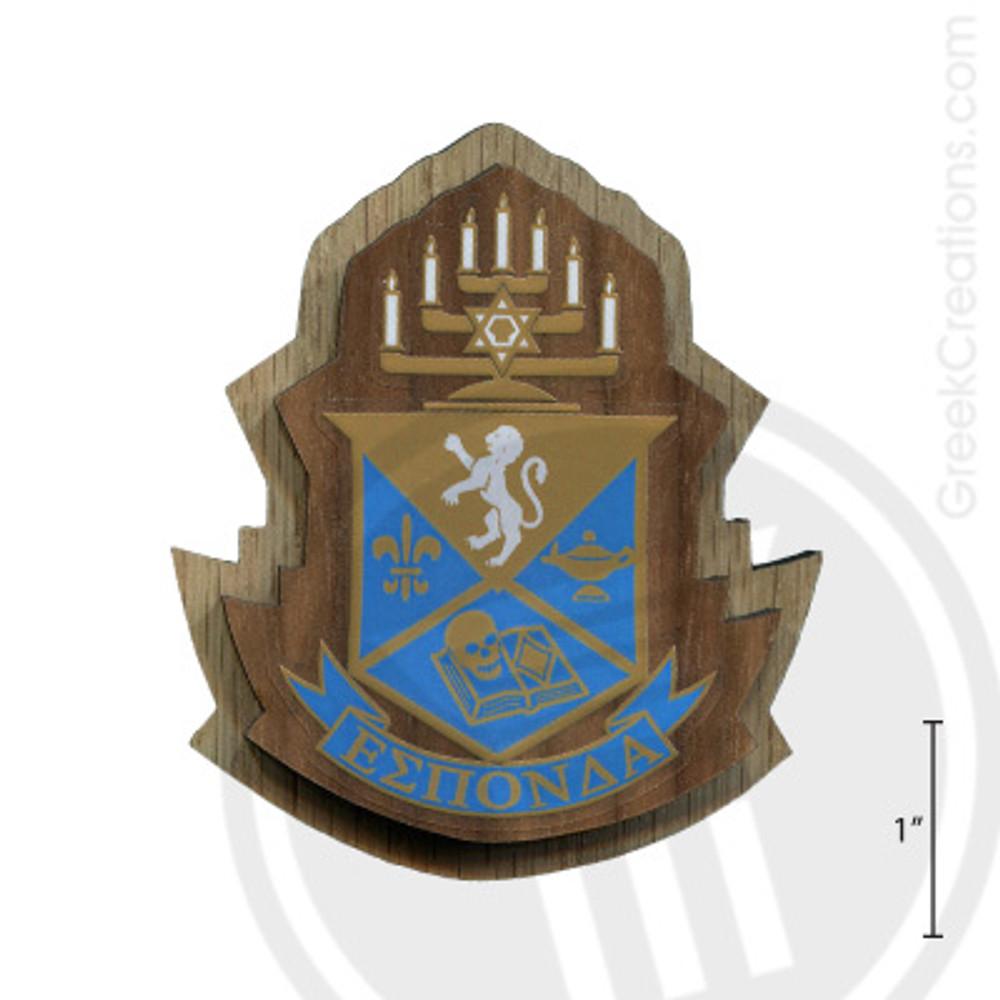Alpha Epsilon Pi Large Raised Wooden Crest