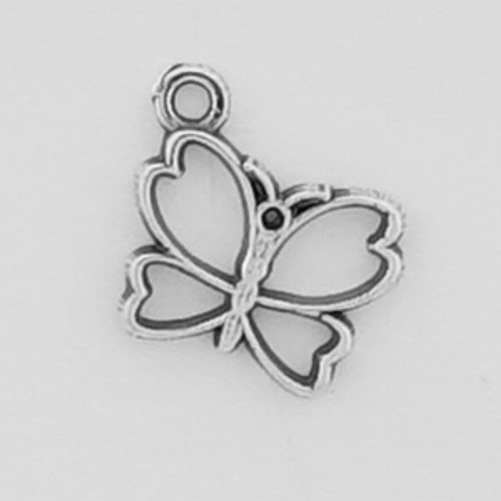 Sterling Silver Small Butterfly Symbol