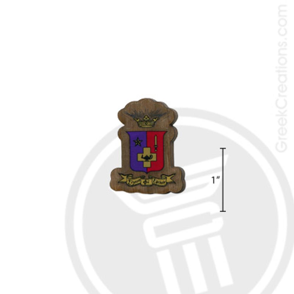 Sigma Phi Epsilon Small Raised Wooden Crest