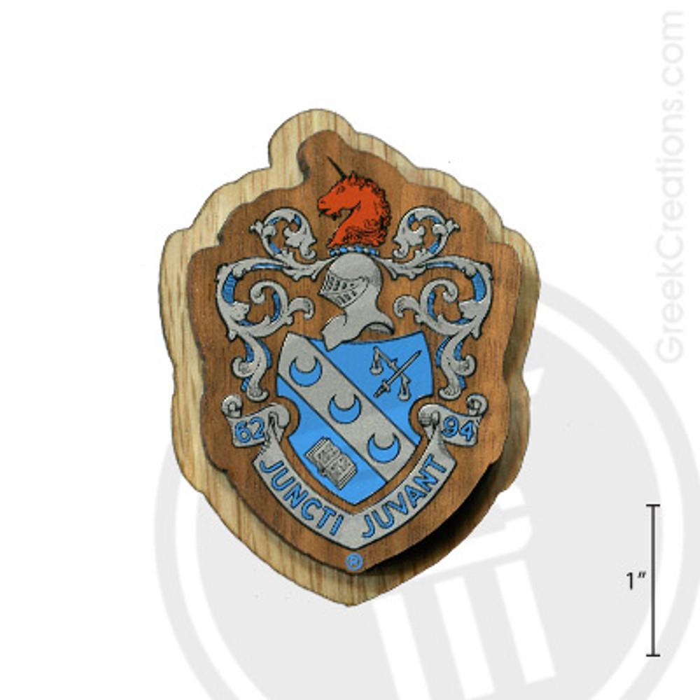 Theta Xi Large Raised Wooden Crest