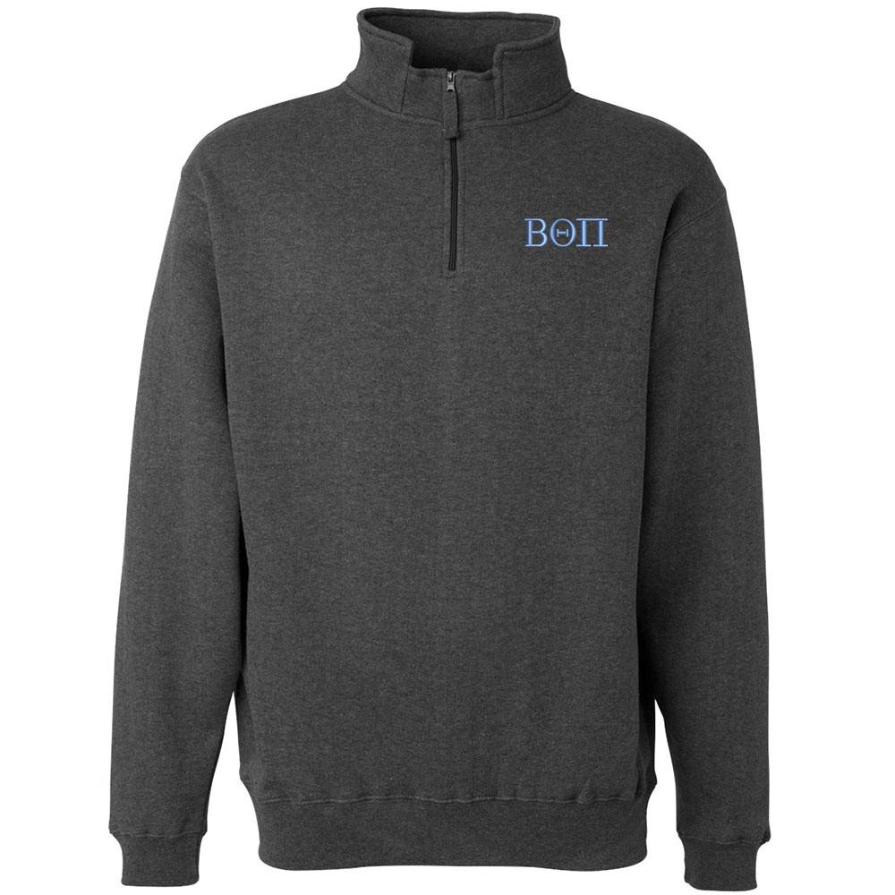 Fraternity & Sorority Embroidered J. America Quarter-Zip Fleece Sweatshirt