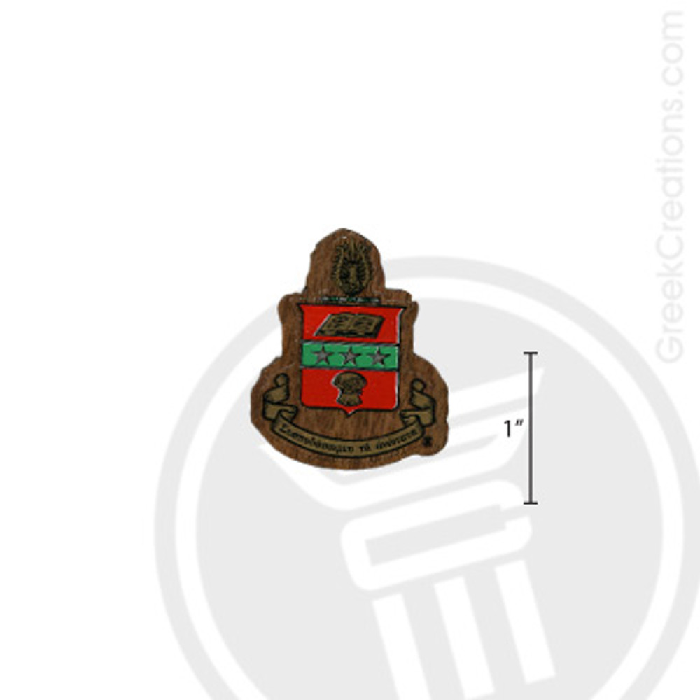 Alpha Chi Omega Small Raised Wooden Crest