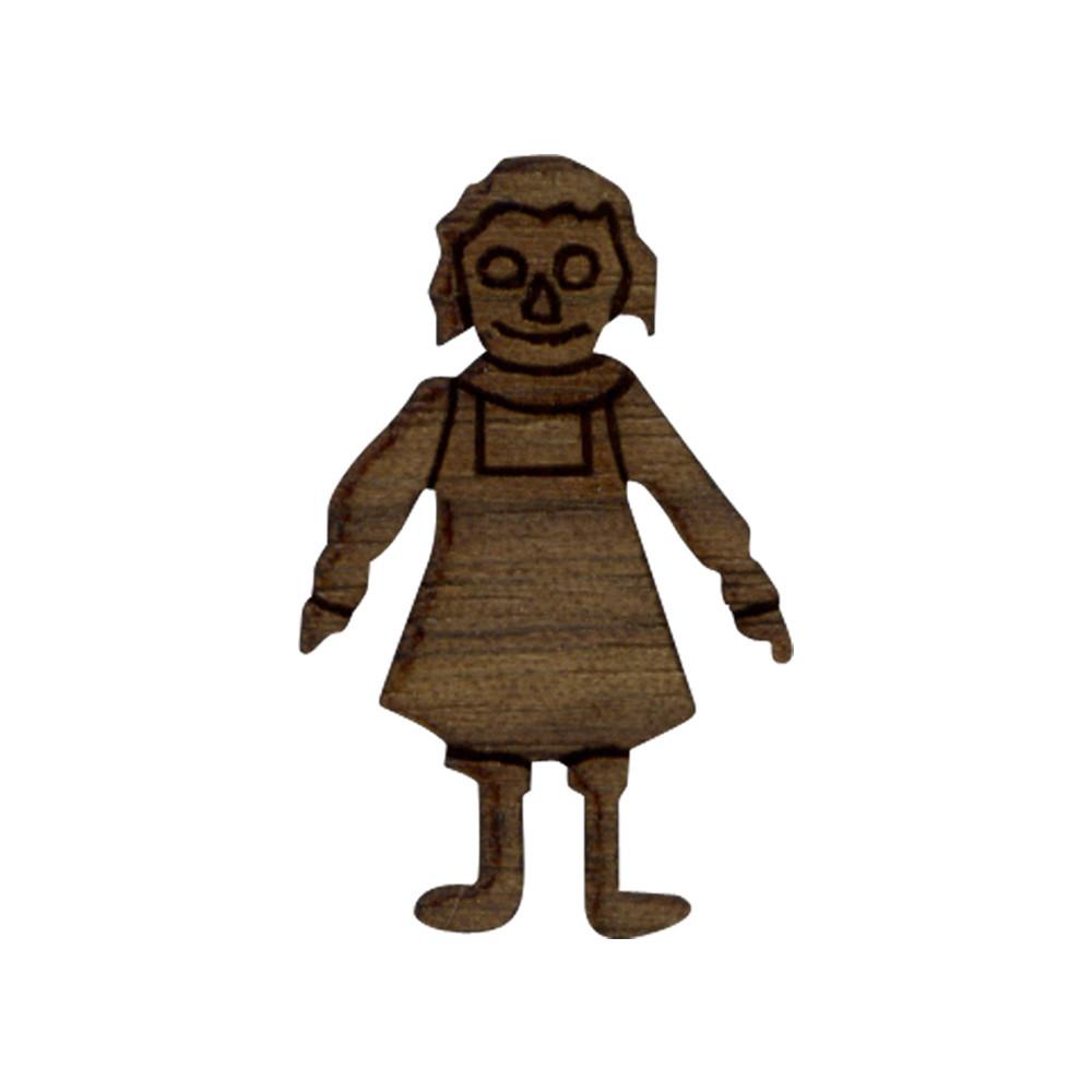 Wooden Raggedy Ann Symbol