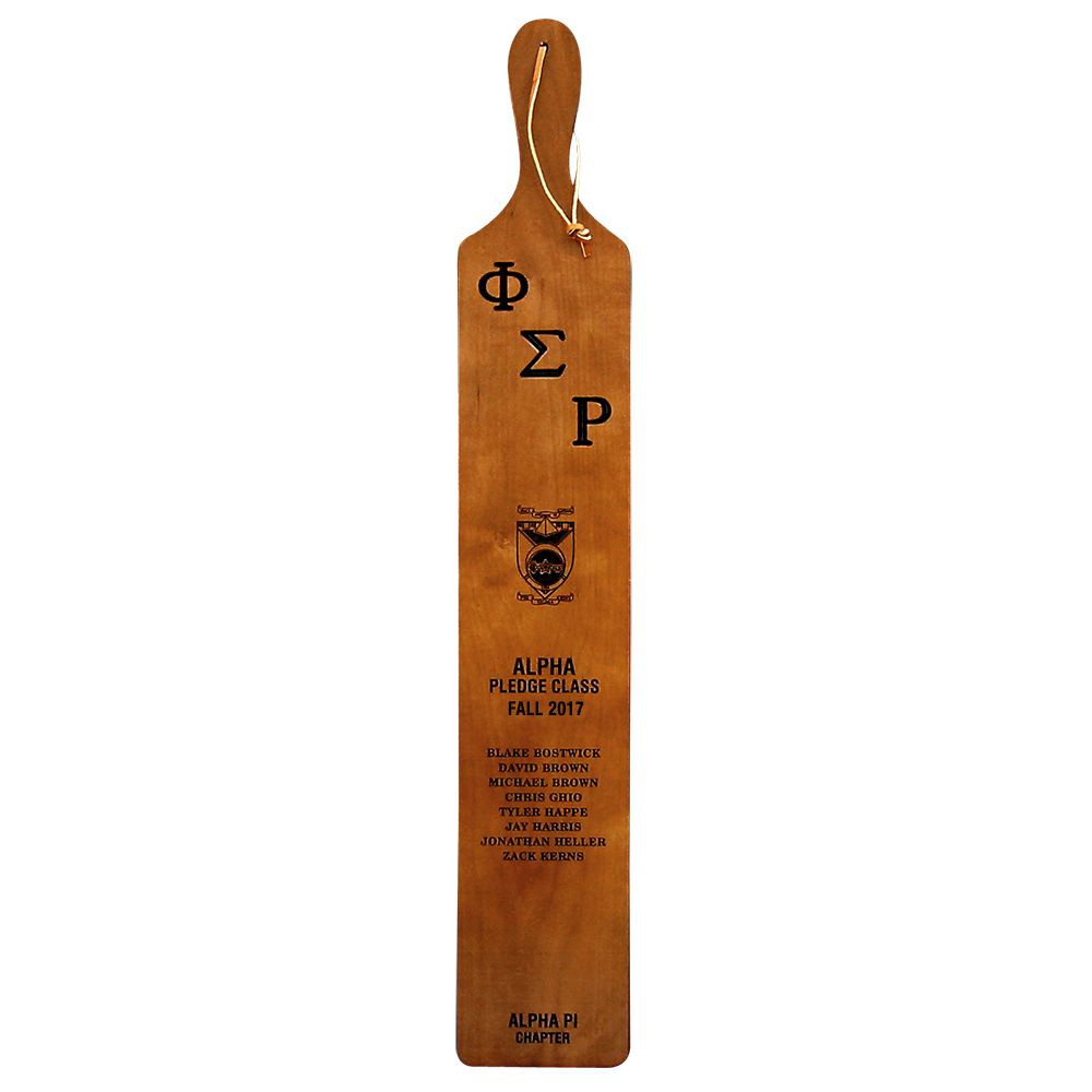 Campus King Pledge Class Paddle with Printed Crest