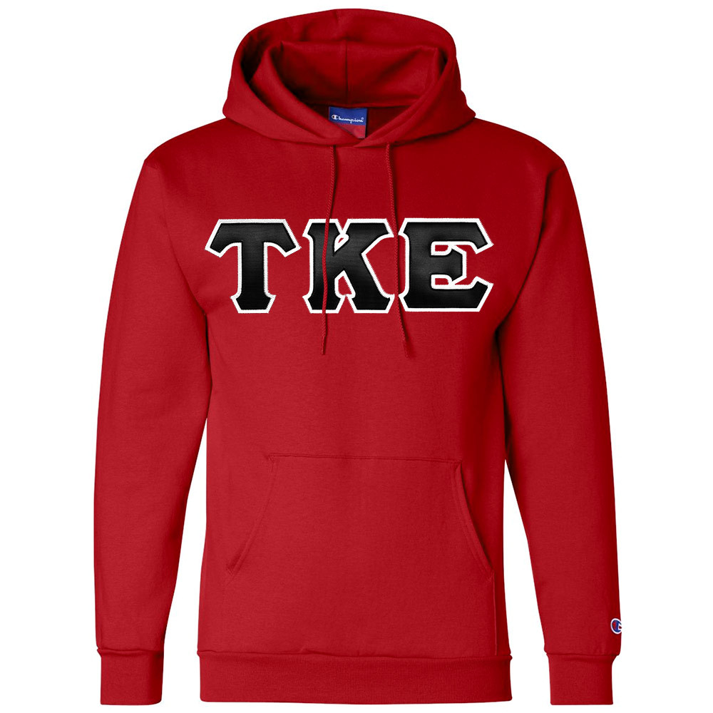 656f9de2bb3f Fraternity   Sorority Hooded Letter Sweatshirt