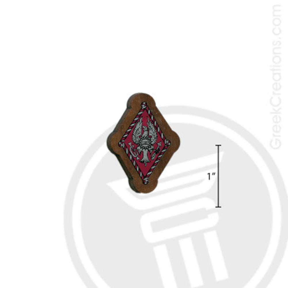 Pi Beta Phi Small Raised Wooden Crest