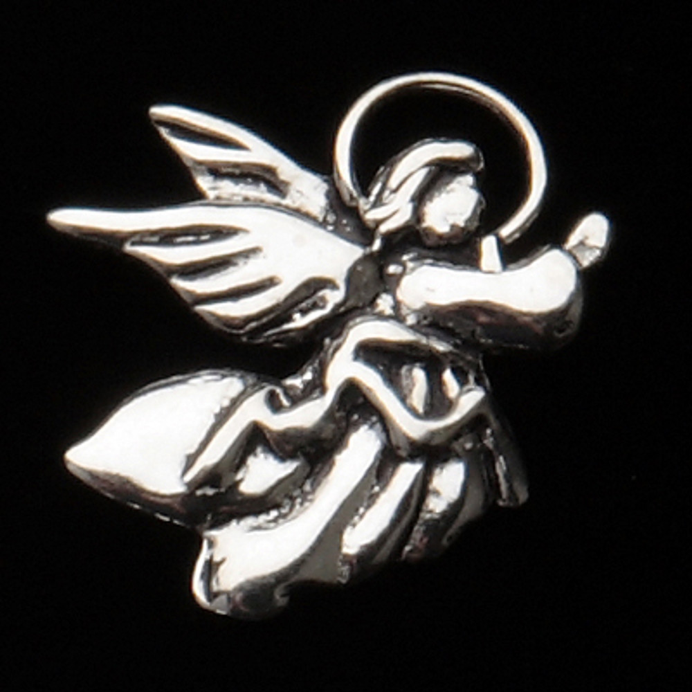 Sterling Silver Angel with Halo Symbol Charm