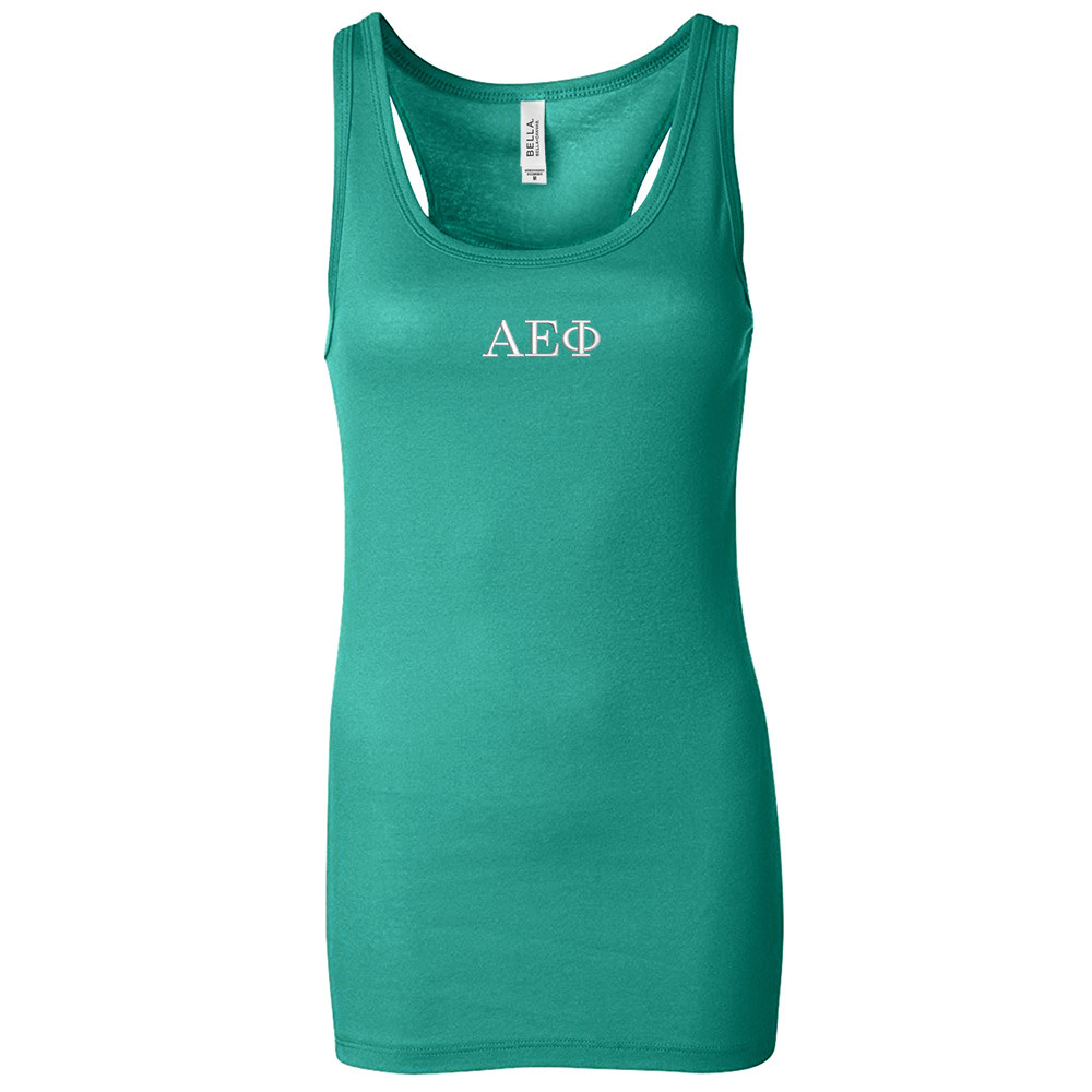 Sorority Embroidered Bella Racer Back Tank
