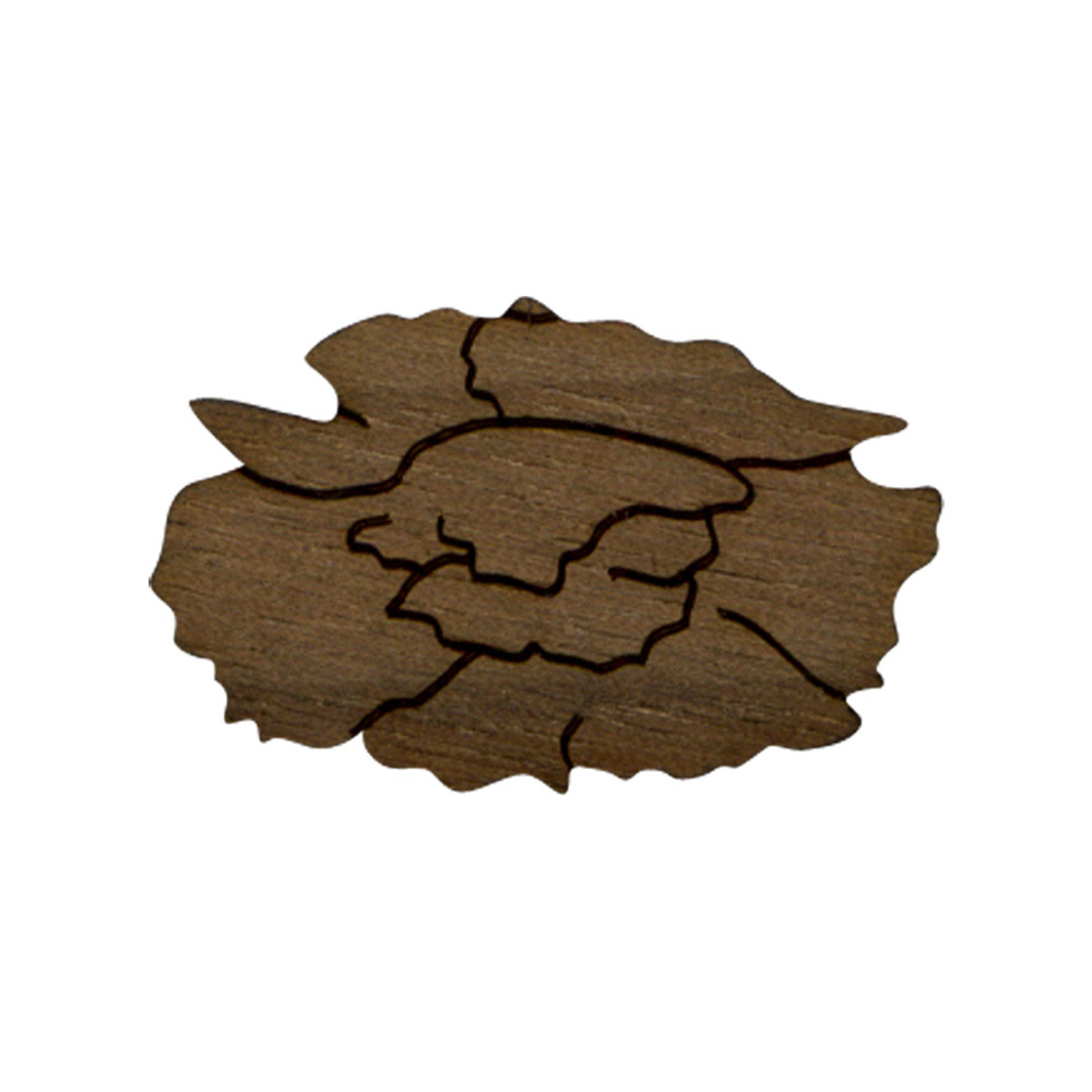 Wooden Carnation Symbol