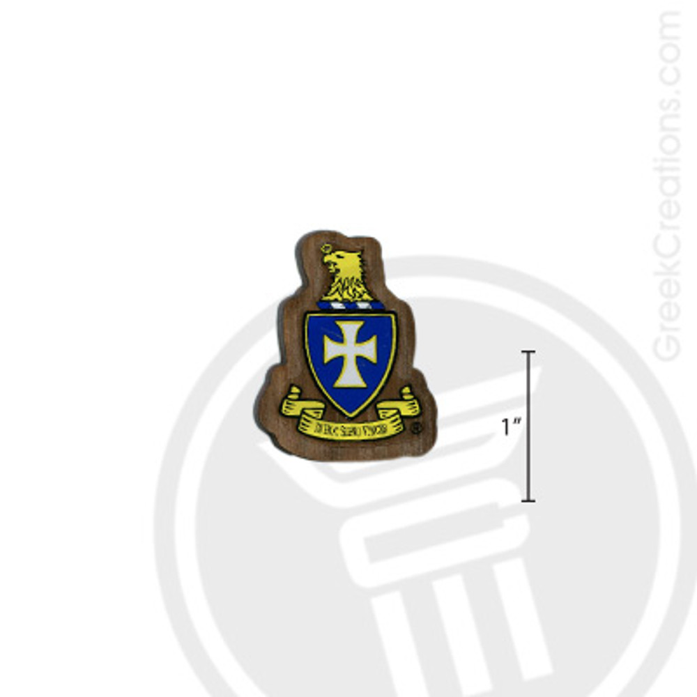 Sigma Chi Small Raised Wooden Crest