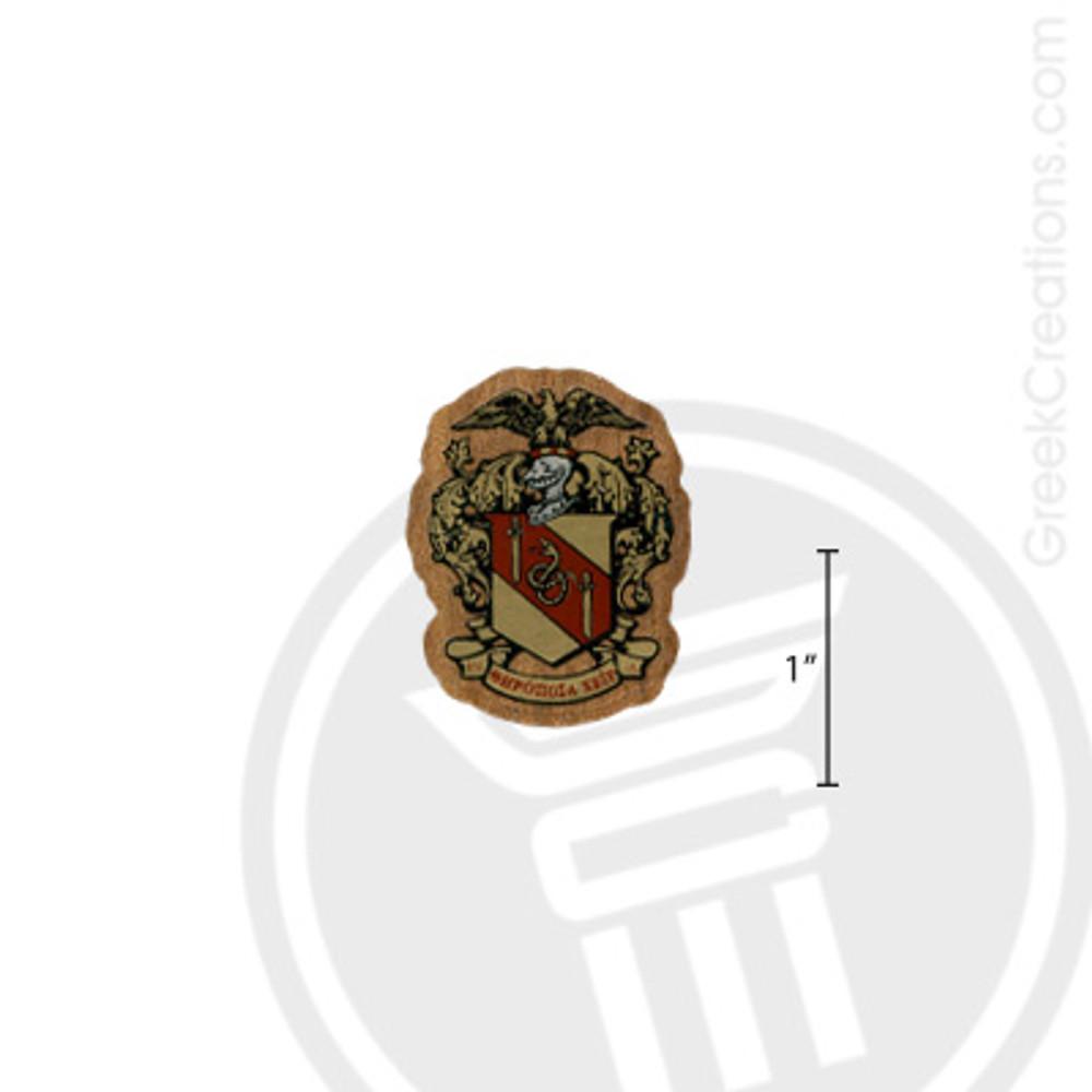 Theta Chi Small Raised Wooden Crest