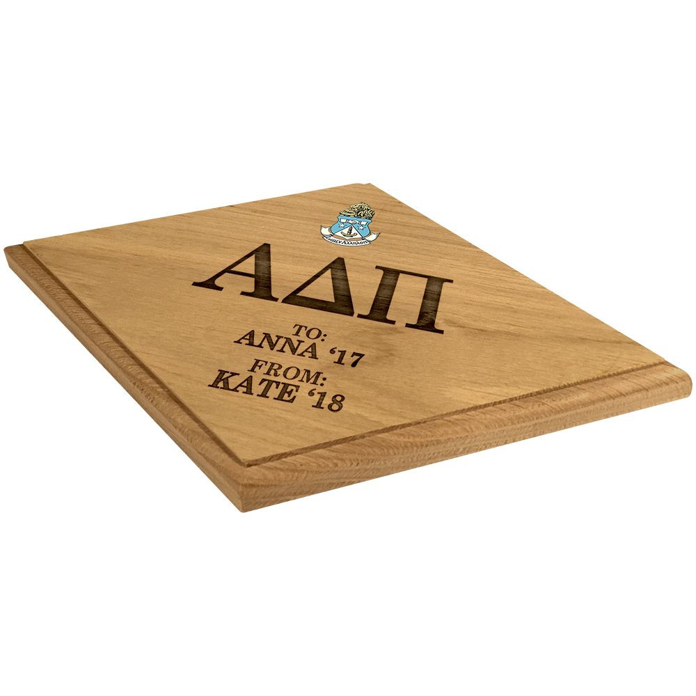 Alpha Delta Pi Paddle Plaque Side