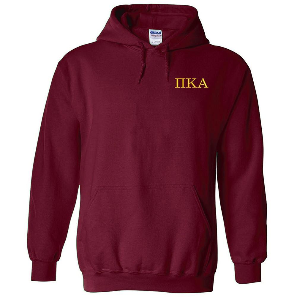 20d9c560 Fraternity & Sorority Embroidered Gildan Hooded Sweatshirt
