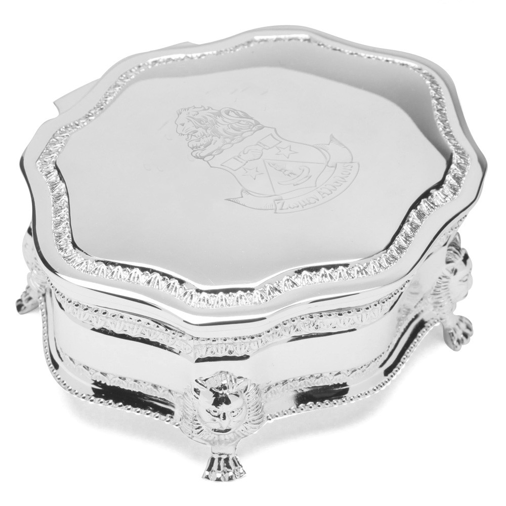 Footed Silverplate Box