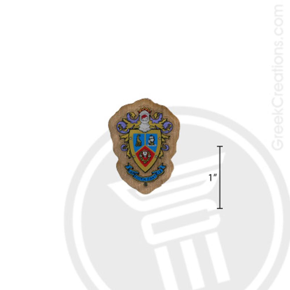 Delta Sigma Pi Small Raised Wooden Crest
