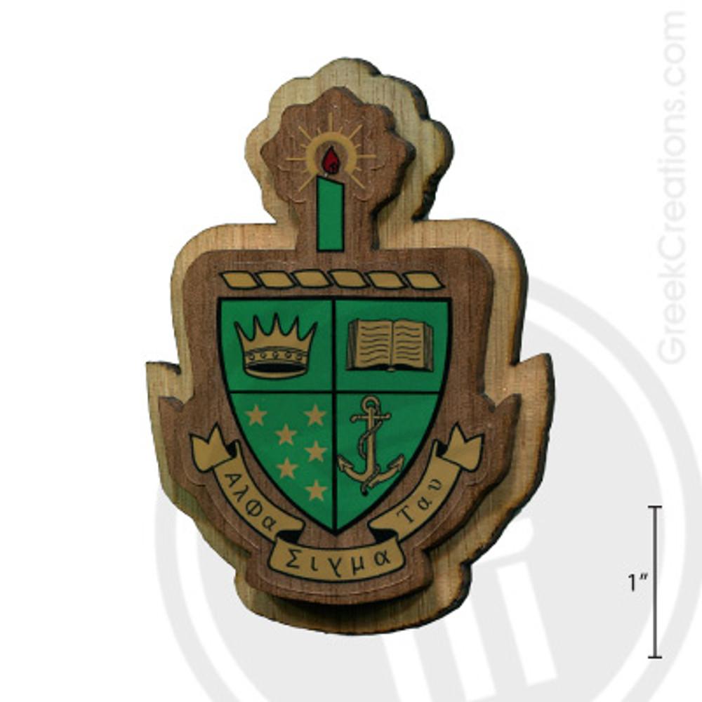 Alpha Sigma Tau Large Raised Wooden Crest
