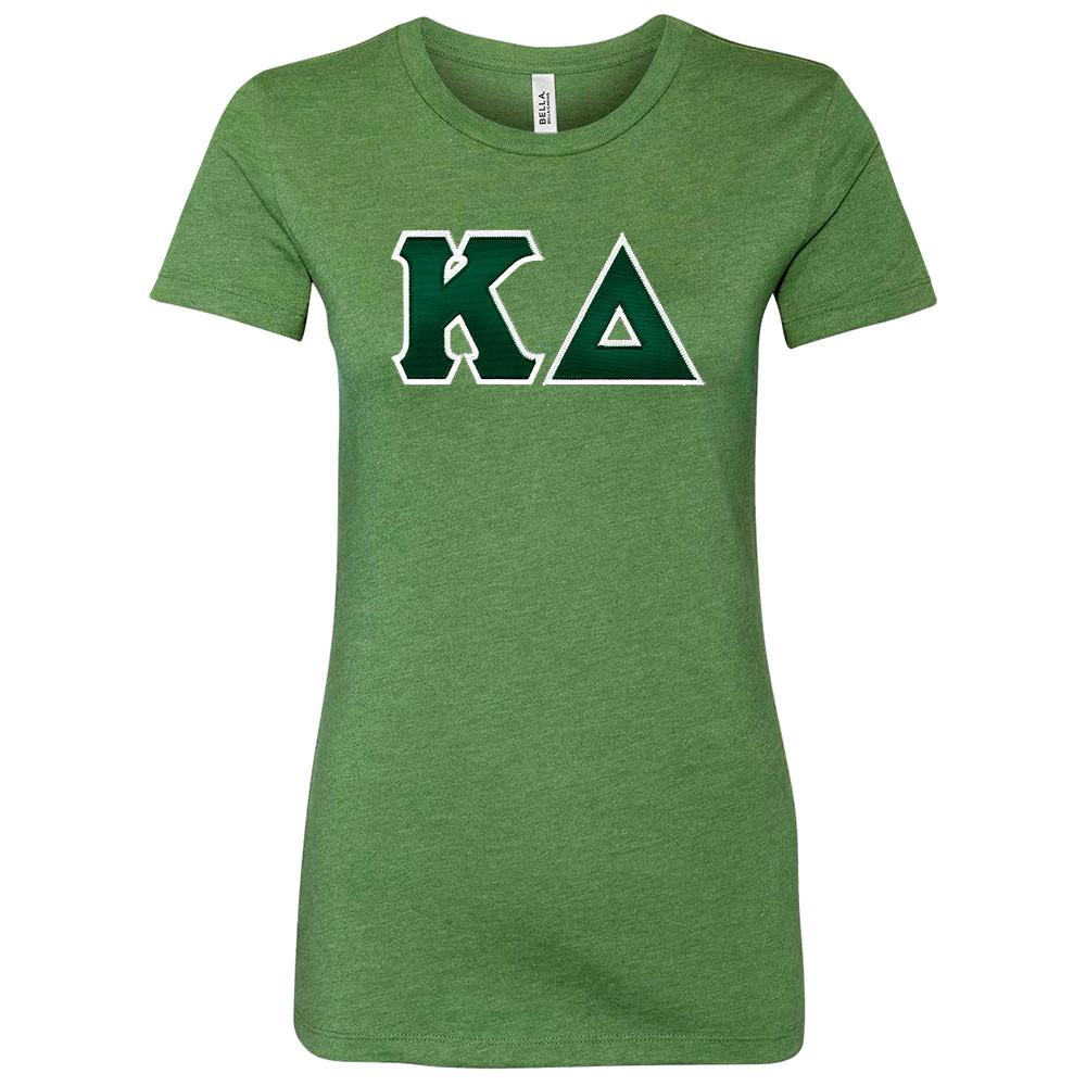Sorority Lettered Bella Short Sleeve T-Shirt