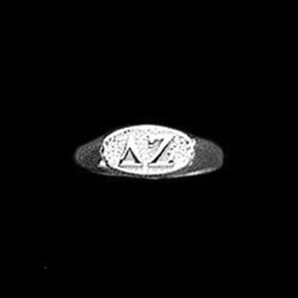 Sterling Silver Sorority Ring with Raised Letters