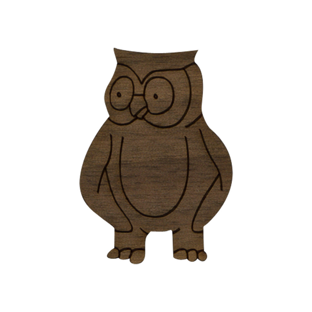 Wooden Owl Symbol