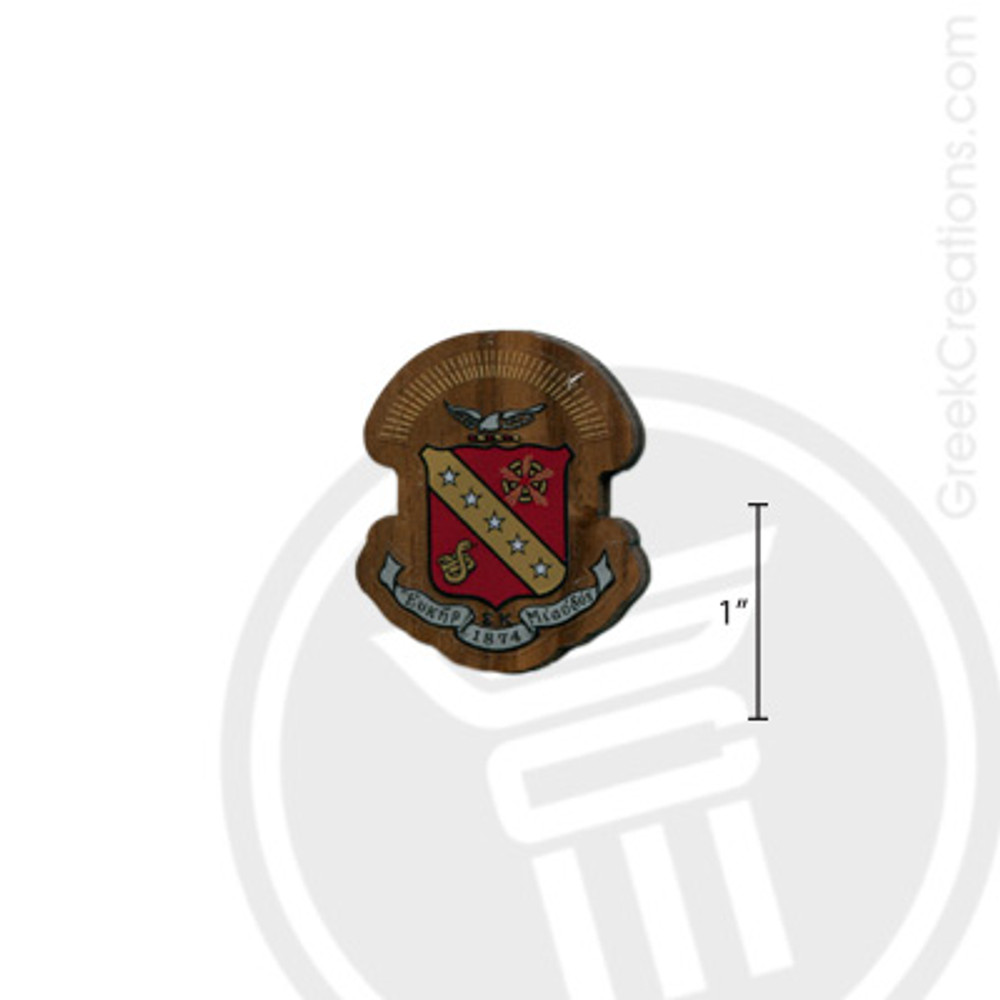 Sigma Kappa Small Raised Wooden Crest