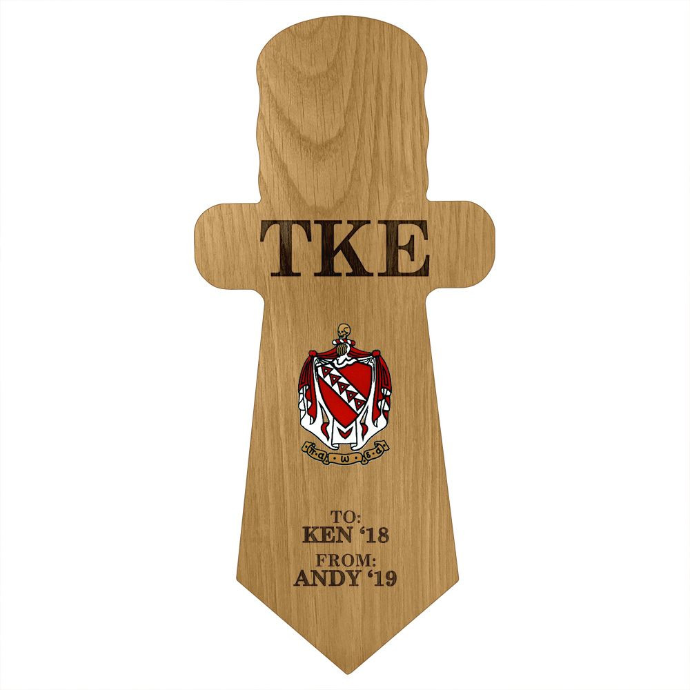 Tau Kappa Epsilon Dagger Paddle Plaque
