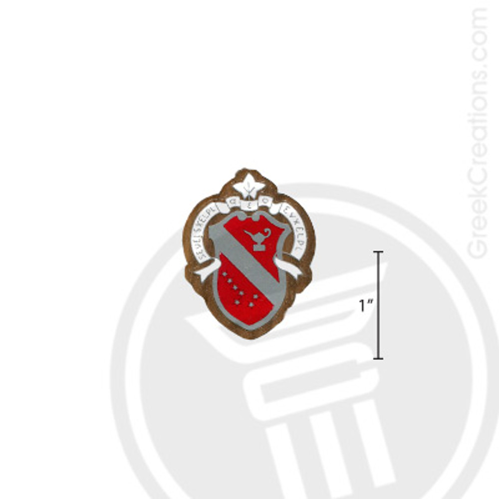 Alpha Phi Small Raised Wooden Crest