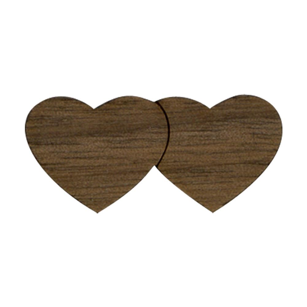 Wooden Double Heart Symbol