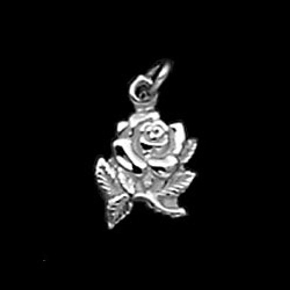 Sterling Silver Rose Symbol