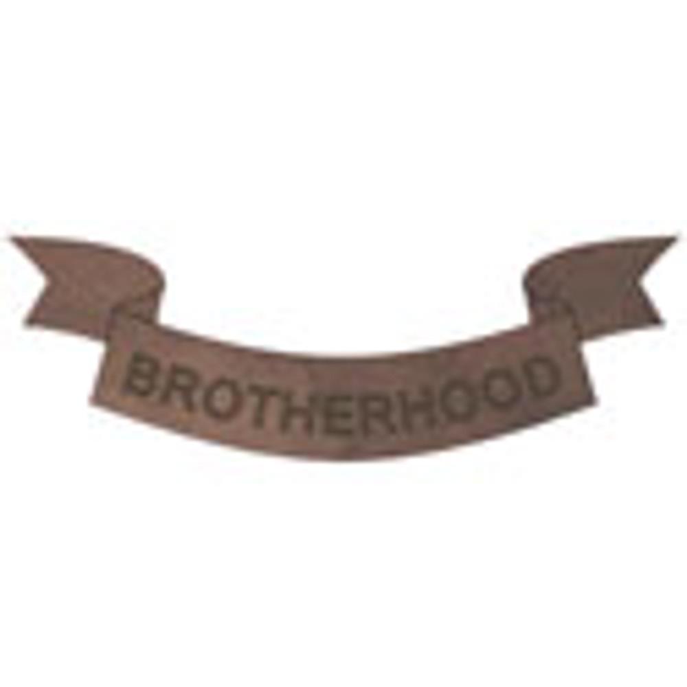 Peel-n-Stick Brotherhood Banner Decoration for Blank Paddles