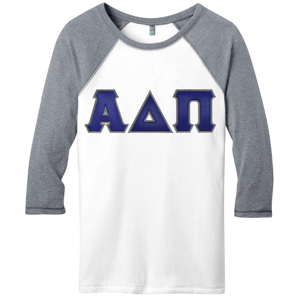 Sorority Lettered District Threads 3/4 Sleeve T-Shirt