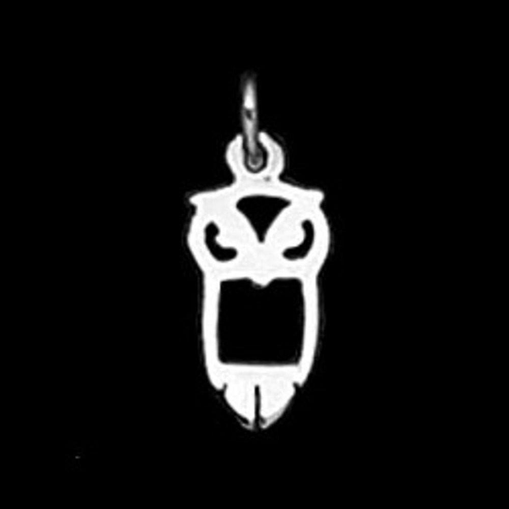 Sterling Silver Small Owl Symbol