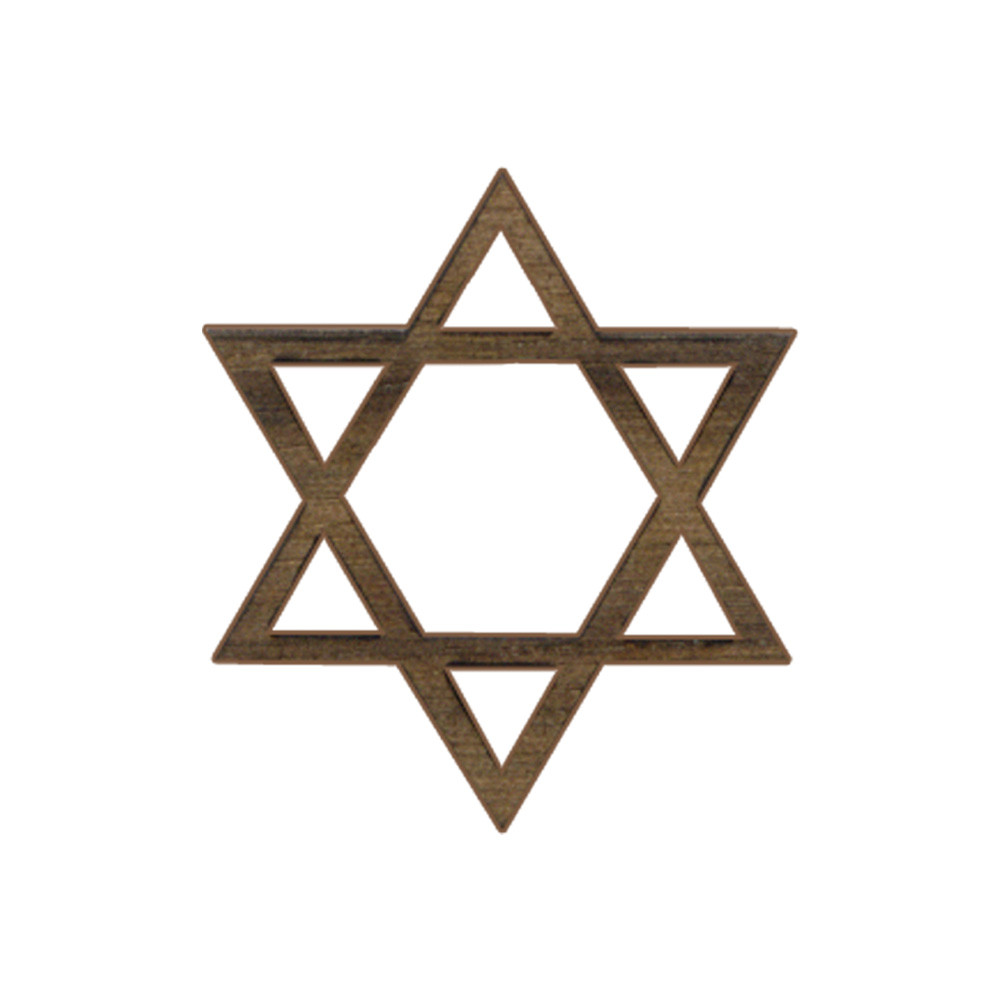 Wooden Star of David Symbol