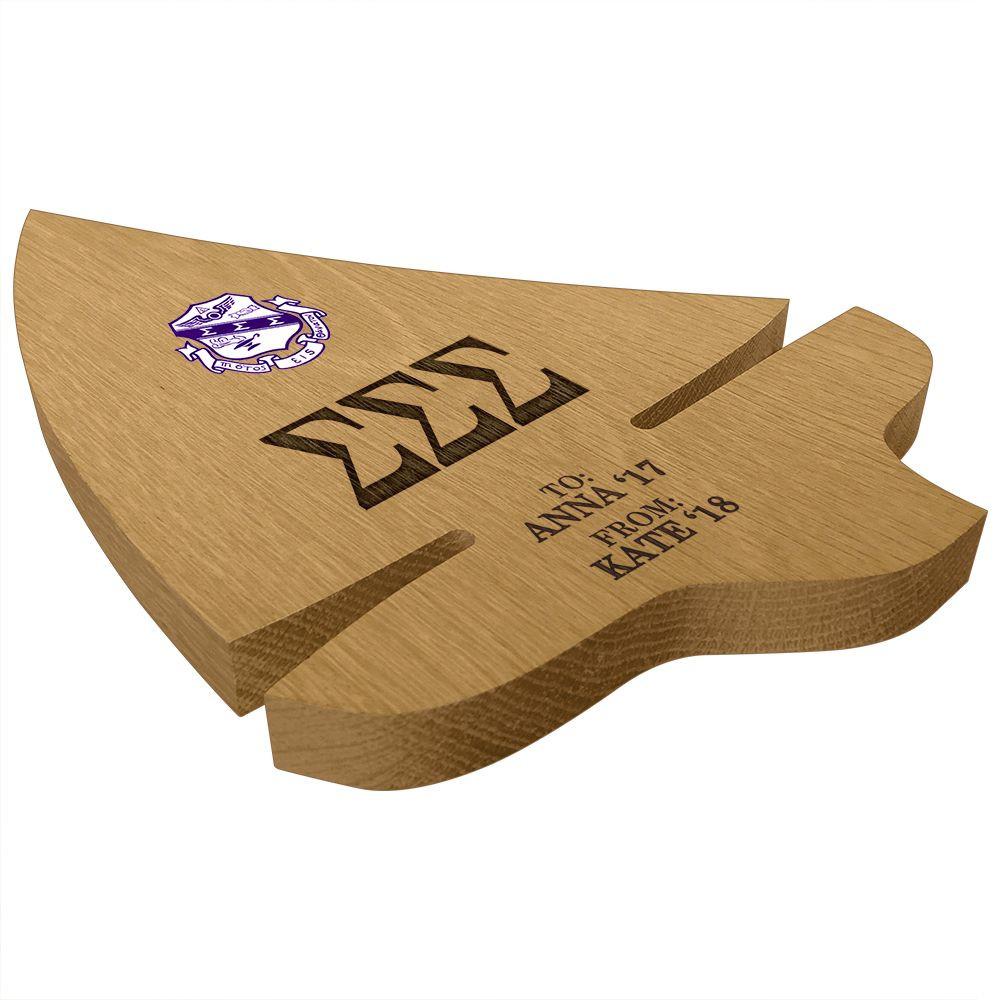 Sigma Sigma Sigma Sailboat Paddle Plaque Side