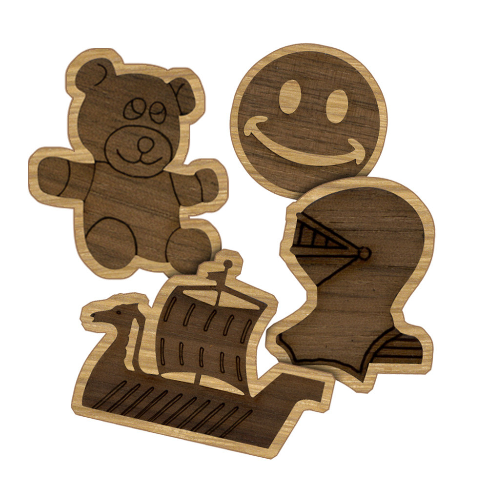 Double Layer Wooden Mascot & Symbol Designs