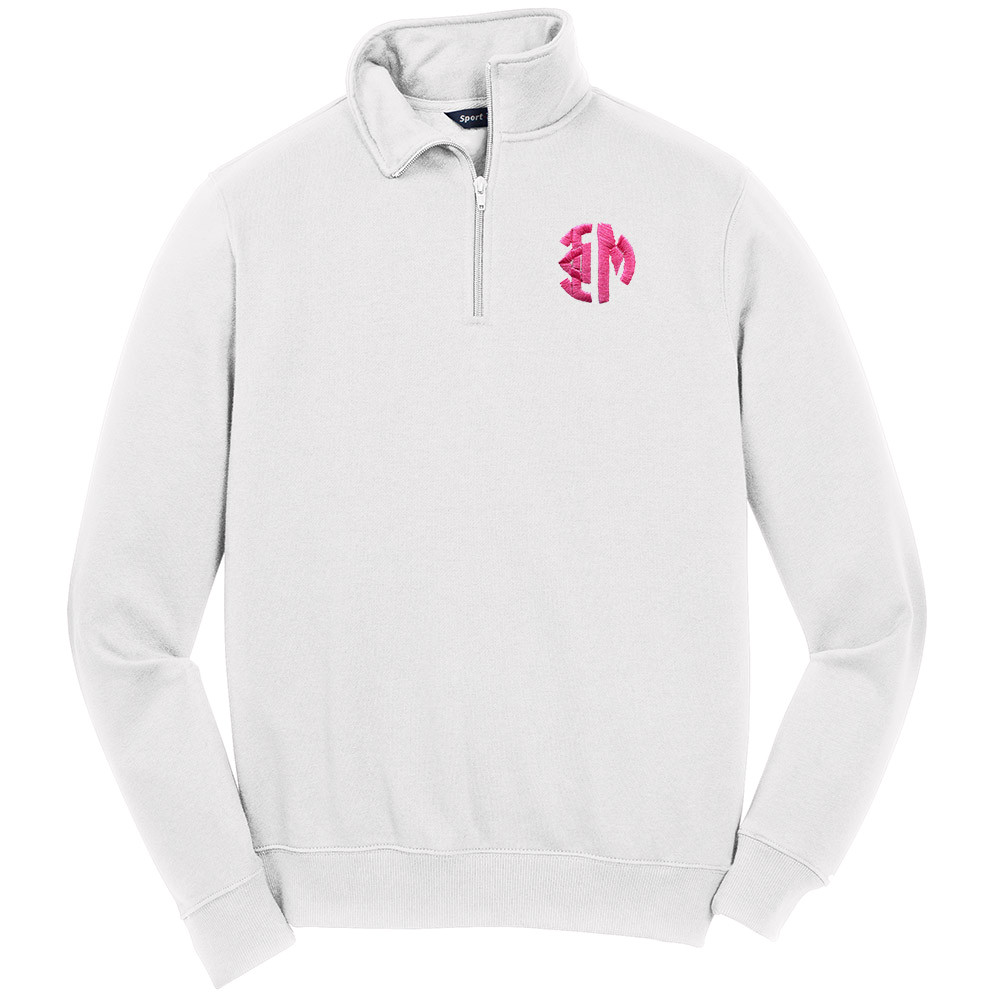 ad8befb50c6 Sorority Embroidered Monogram Sport-Tek Quarter Zip