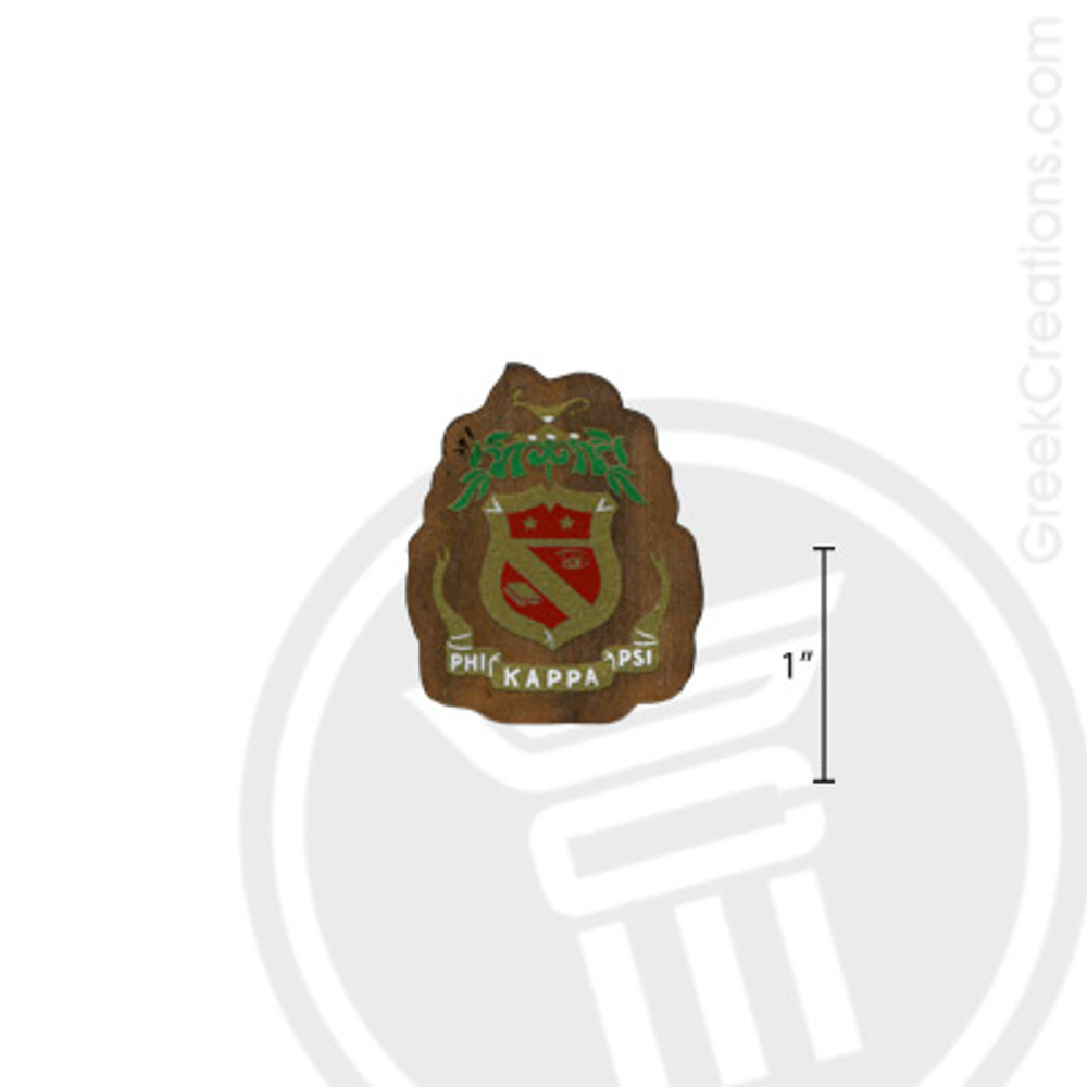 Phi Kappa Psi Small Raised Wooden Crest