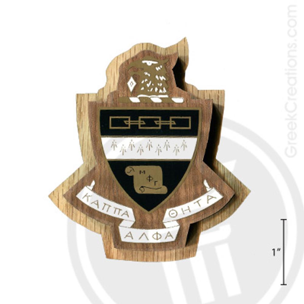 Kappa Alpha Theta Large Raised Wooden Crest