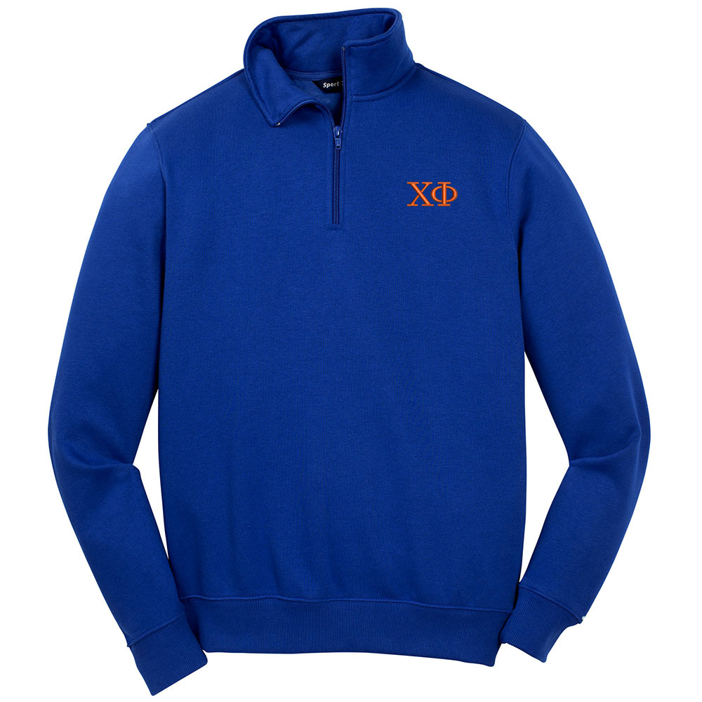 2aad6b4a653 Fraternity   Sorority Embroidered Sport-Tek Quarter Zip Sweatshirt
